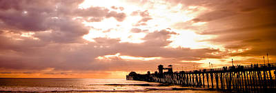 Photograph - Oceanside Pier Sunset by Mickey Clausen