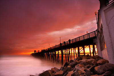 San Diego Photograph - Oceanside Sunset 2 by Larry Marshall