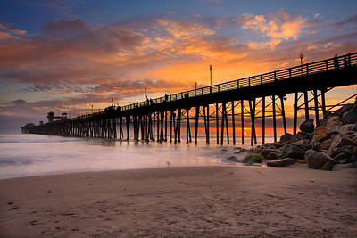 Oceanside Sunset 7 Art Print by Larry Marshall