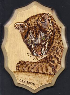 Pyrography Pyrography - Ocelot by Clarence Butch Martin