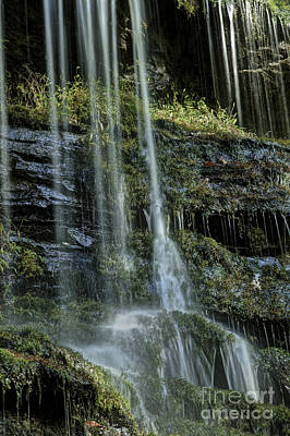 Photograph - Oconee Station Falls Detail II by David Waldrop