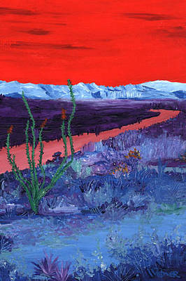 Color Painting - Ocotillo by Randall Weidner