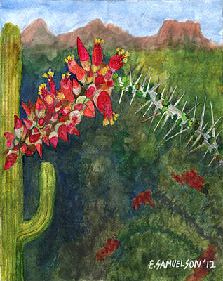 Painting - Ocotillo Spring by Eric Samuelson
