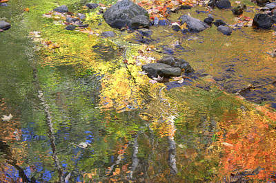 Impressionism Photos - October Colors Reflected by Valentino Visentini