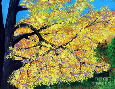 Turning Of The Leaves Painting - October Fall Foliage by Alys Caviness-Gober