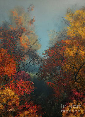 Fog Mist Digital Art - October by Jutta Maria Pusl
