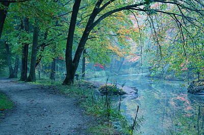 October Mist Art Print by Mandi Howard