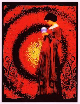 October Moon Art Print by Janiece Senn