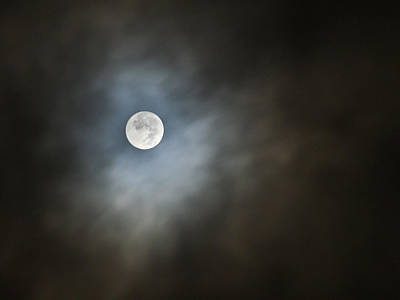Print featuring the photograph October Moon by Steve Sperry