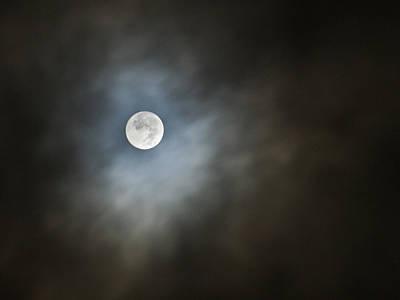 October Moon Art Print by Steve Sperry