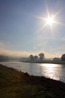 Elmira Ny Photograph - October River Sunrise by Debbie Fieno