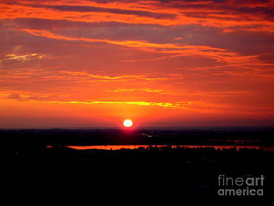 October Sunrise Art Print by Marilyn Magee
