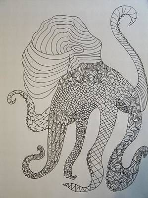 Drawing - Octopus by Samantha L