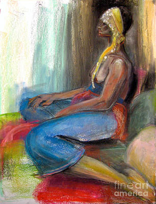 Drawing - Odelisque 2 by Gabrielle Wilson-Sealy