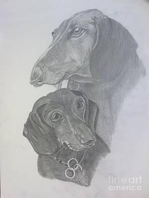 Odi And Eli Art Print by Lora Marsh