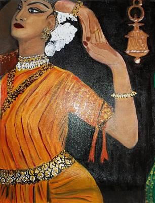 Bharatanatyam Painting - Odissi Dancer by Iris Devadason