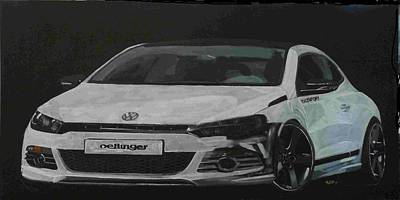 Painting - Oettinger Vw Scirocco  by Richard Le Page