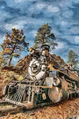 Railroads Painting - Of Mountain And Machine by Jeffrey Kolker