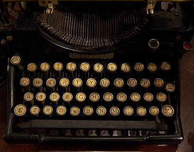Underwood Typewriter Photograph - Of Times Gone By by Ernie Echols