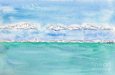 Painting - Off Matira Point - Bora Bora by Pat Katz