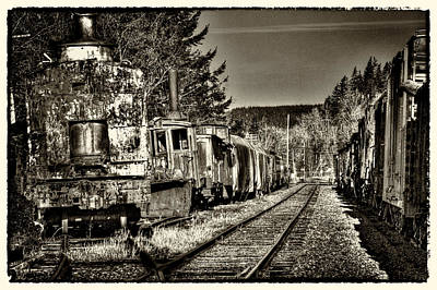 Train Photograph - Off Track by David Patterson