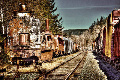 Trains Photograph - Off Track II by David Patterson