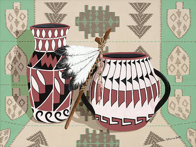 Native American Pottery Painting - Offerings by Katherine Young-Beck