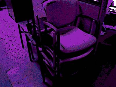 Cubicle Digital Art - Office Chairs by George Pedro