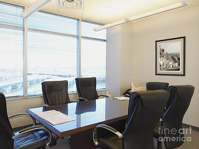 Office Meeting Room Art Print by Dave & Les Jacobs