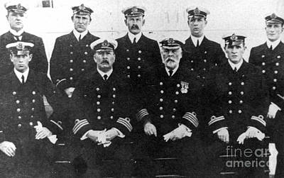 Photograph - Officers Of The Titanic, 1912 by Granger