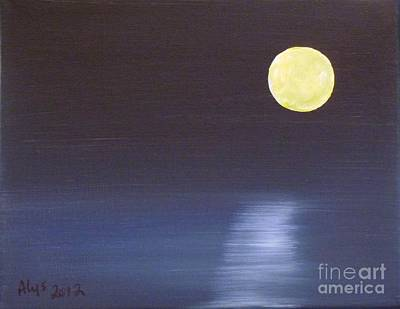 Offset Moon Art Print by Alys Caviness-Gober