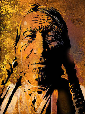 Painting - Oglala Elder by Paul Sachtleben