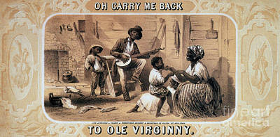 Oh Carry Me Back To Ole Virginny, 1859 Art Print by Photo Researchers