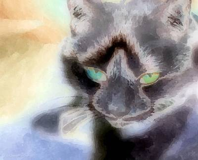 Painting - Oh Kitty Kitty by Lynda K Cole-Smith