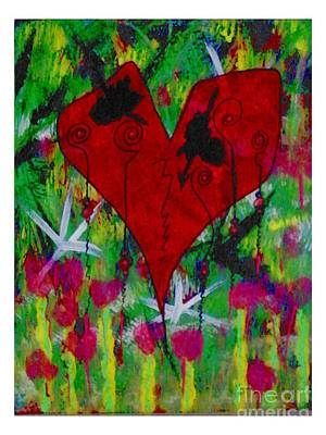 Oh My Green Heart Painting - Oh My Green Heart by Donna Daugherty