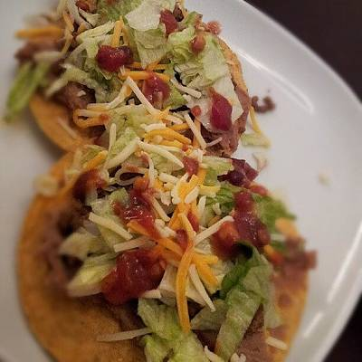 Foodie Wall Art - Photograph - Oh Yea! Tostadas! #chef #homemade #yum by Travis Albert