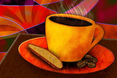 Digital Art - Ohhh.. Coffee by Melisa Meyers