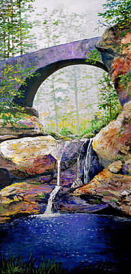 Painting - Ohio Bridge by Lou Ann Bagnall