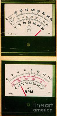 Ohmmeter And Mercury Meter Art Print by Science Source