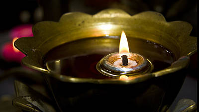 Oil Burner Photograph - Oil Burner In A Chinese Temple by Zoe Ferrie