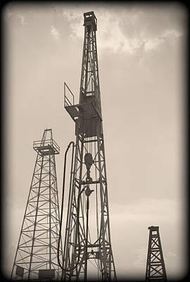 Photograph - Oil Derrick V by Ricky Barnard