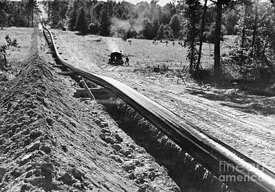 Photograph - Oil Pipeline, C1944 by Granger