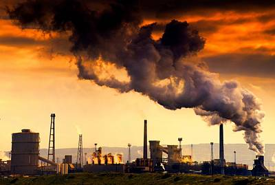 Mess Photograph - Oil Refinery by John Short