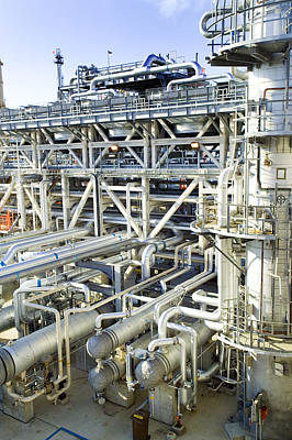 Oil Refinery Pipes Art Print