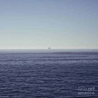 Oil Rig On Ocean Art Print by Eddy Joaquim