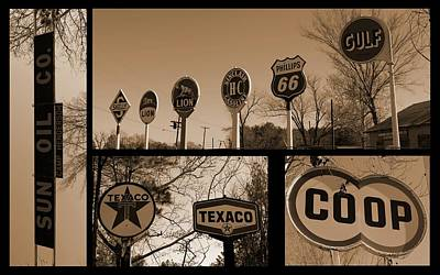 Oil Sign Retirement Art Print by Betty Northcutt