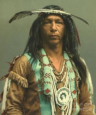 Ojibwa Brave Arrowmaker Art Print by Padre Art