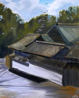 Okazaki Castle Art Print by Janice Harvey