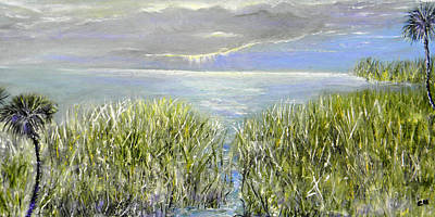 Sun Rays Painting - Okeechobee by Christy Usilton