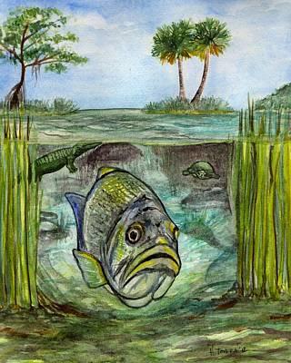 Okeechobee Underwater Art Print by Heather Torres
